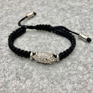 Jewelry - Black drawstring bracelet